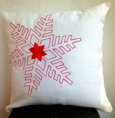 Christmas Sale Snowflakes Christmas Cushion Cover Holiday Pillow by Snazzyliving on Etsy Christmas Cushion Covers, Christmas Cushions, Christmas Sale, Xmas, Snowflakes, Beautiful Flowers, Throw Pillows, Sewing, Unique Jewelry