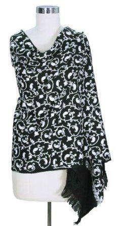 Wool shawl, 'Night and Day' NOVICA. $99.95