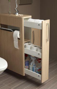Picante 2 Világos tölgy, wc elválasztó falként funkcionáló szekrény