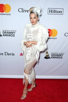 3f73bf1525 Here are all of the red carpet looks from Clive Davis  2018 GRAMMYs pre- party