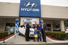 HYUNDAI PROUDLY HANDS KEYS TO FIRST TUCSON FUEL CELL CUSTOMER AT TUSTIN HYUNDAI