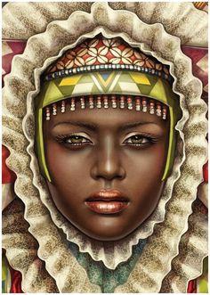 African Madonna by MUTI , via Behance