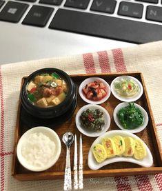 #점심#맛점#집밥#된장찌개#미니어처#miniature#miniaturefood #fakefood #clay#koreanfood #homemade#handmade