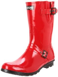 "Storm by Cougar Women's Mercury Rain Boot Storm. $44.69. Heel measures approximately 1"". Rubber sole. Boot opening measures approximately 14.5"" around. synthetic. Made in China. Shaft measures approximately 10.5"" from arch"