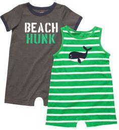 Carter's Beach Hunk & Whale One Piece Set