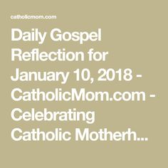 Join us as we reflect, ponder, and pray together inspired by today's Gospel.