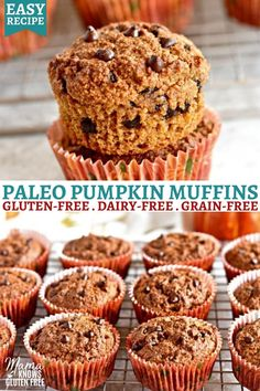 An easy recipe for Paleo pumpkin muffins. These almond flour pumpkin muffins are gluten-free, dairy-free, grain-free, and have no refined sugar.