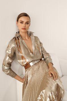 Ralph Lauren Pre-Fall 2019 Fashion Show - Vogue Look Fashion, Autumn Fashion, Fashion Outfits, Fashion Design, Modern Fashion, Curvy Fashion, Couture Fashion, Runway Fashion, Womens Fashion