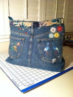 Back of my flower jean bag