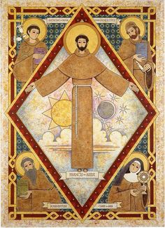 St francis Catholic Art, Catholic Saints, Patron Saints, Religious Art, Feast Of St Francis, Francis Of Assisi, St Francisco, Clare Of Assisi, Saint Anthony Of Padua