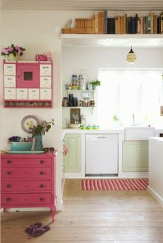 I'm not that into pink, but this is the perfect pink.  Just a pop here and there would be perfect in my home.