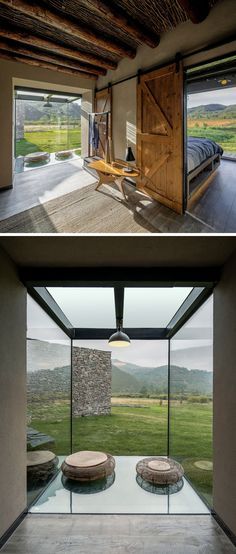 A window becomes a sitting area in this visitors centre in China. #Window #SittingArea