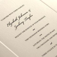 Portamento Cream Wedding Invitation
