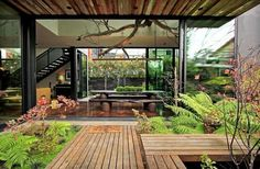 This is a nature house and modern mixing