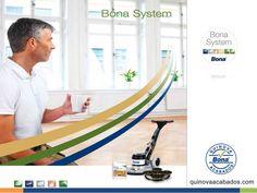 Bona System es una completa gama de productos respetuosos con el medio ambiente para la instalación, renovación y mantenimiento de suelos de madera. http://www.quinovaacabados.com/productos-bona/bona-system/
