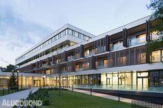 Geriatric Care Baumgarten, Vienna  | Austria by ganahl ifsits architects/ silbermayr welzl architects  | Photos: Werner Huthmacher | ALUCOBOND®  A2 Silvermetallic