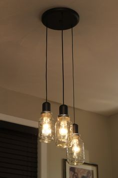Mason Jar Light Chandelier