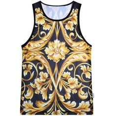 1235f48954be02 Men Summer Tank Tops Yellow Flower Digital printing Mesh Vest Jersey  Sleeveless tee shirts For Men Size M-XXL