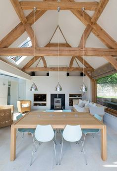fabulous barn conversion style garden room by Border Oak