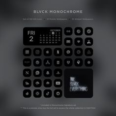 Please note that the pack is not a theme, and that you have to manually add each icon to your home screen. Once the icons are installed, notifications badges on the shortcut apps won't appear. By popular demand, Blvck Paris is releasing 3 different icon sets made for iOS14. What Is Included in each pack: Pack 1: Blvck Monochrome Signature Set ($15) - 668 custom icons - 2 versions included: 334 Blvck & 334 Whte icons - 10 complimentary Mobile Wallpapers - 10 complimentary Widget Wallpapers - Life Hacks Iphone, Apple Iphone Wallpaper Hd, Black App, Iphone Home Screen Layout, Ios App Icon, Custom Icons, Phone Themes, App Icon Design, Software
