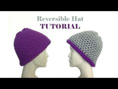 How to Loom Knit a Reversible Hat (DIY Tutorial) - YouTube