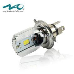 Nao h4 xe máy led đèn pha dc 6 v ~ 80 v 6 wát 800lm cob ánh sáng HS1 Bulb 6500 K 3000 K 9003 Xe Máy Xe Tay Ga Xe Máy Trụ đèn # M2S