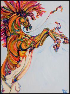"""Saatchi Online Artist: Yaheya Pasha; Acrylic, 2010, Painting """"Toy Horse"""""""