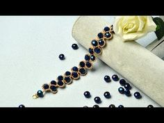 PandaHall Video Tutorial on Blue Electroplate Glass Bead Weave Stitch Bracelet - YouTube