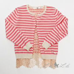 L:ú L:ú by @Miss Grant Official beige and pink sweater with lace #beige #missgrant #SS14 #spring #summer #springsummer2014 #childrens #kids #childrenswear #kidswear #kidsfashion #girls