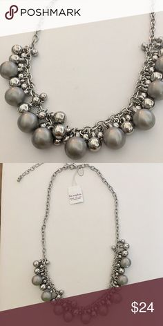 """lia sophia Gray and Silver Beaded Necklace Such a fun necklace! Top any outfit with this great beaded necklace by lia sophia. Silver and Grey bauble beads move as you move for a fun flirty style! Brand new, never worn! 16-19"""" with built-in extender.   Thank you for stopping by @stephsgems!   🌟 Brand NEW item!  🚫 No Trades 💖 Packaged with Love! Lia Sophia Jewelry Necklaces"""