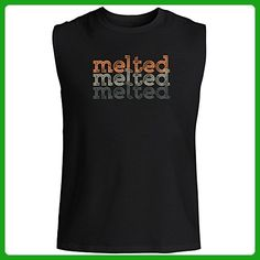 Idakoos - melted repeat retro - Adjectives - Sleeveless T-Shirt - Retro shirts (*Amazon Partner-Link)