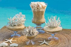 Centrotavola conchiglie e coralli