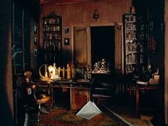 Sigmund Freud's study...thought this was neat