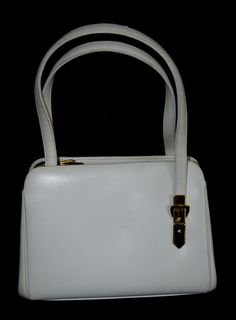 60s Judith Leiber Leather Handbag with Buckle by ModVibeVintage 884fc53de8c3d