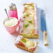 Pear, almond & amaretto tart | Lorraine Pascale recipes