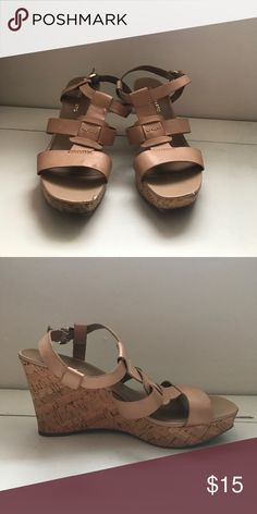 Franco Sarto Cream wedges Scuff marks at the front, very stylish and would go great with a Friday night jean look. Franco Sarto Shoes Wedges