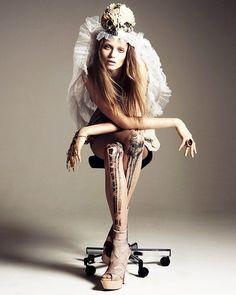"""Model Abbey Lee Kershaw Photographer Rafael Stahelin in """"Lovely Bones"""" Source Vogue Korea"""