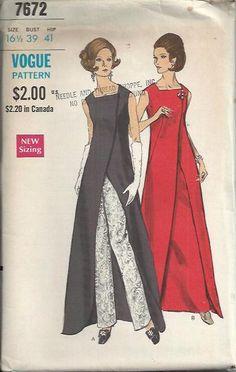 1969 Vogue 7672 Misses Half Size OnePiece by DawnsDesignBoutique, $35.00
