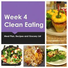 Broke and Bougie: Week 4 Clean Eating Meal Plan, Recipes & Grocery List