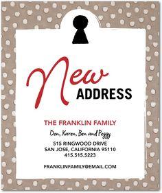 14 best new address announcement images new address announcement