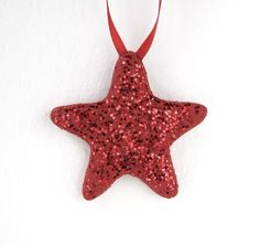 Red Star Ornament Sugar Fun Hand Made To by SugarFunOrnaments, $8.88