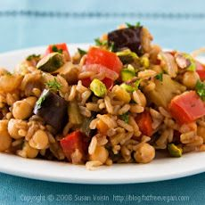 Turkish Pilaf with Pistachios and Chickpeas Recipe