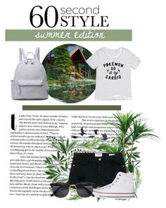 """""""sumercamp2016"""" by zenyalynn on Polyvore featuring Frame Denim, Converse, Jayson Home, converse, nature, woods, summercamp and 60secondstyle"""