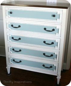 No need to spend 50+. Easily make your own chalk paint fm recipes here. Aztec Chest Duck Egg Blue Old White Dark Walnut