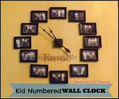 What a fun idea!!!!  Confessions of an ADD Housewife: Kid Numbered Wall Clock