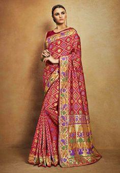 Indian Saree Party Wear Silk Blend Sari Unstiched Blouse Designer Festival Saree #Designer #SariSaree