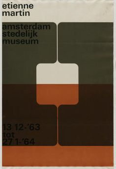 Wim Crouwel. Étienne Martin, Amsterdam Stedelijk Museum. 1963