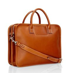 Italian made Leather Briefcase40(l) x 30(w) x 12(d) cm