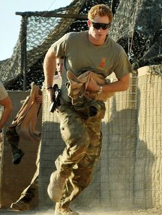 Prince Harry - ginger royal soldier with a gun.  Hot.