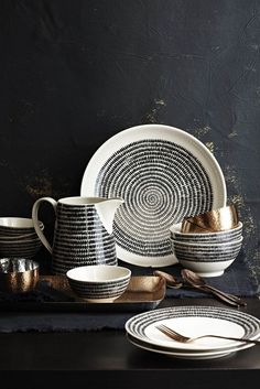 Black and White Crockery This is the new collection from Sainsburys that will be in store by the end of February. Now you know I love a bit of black and white crockery and this, with its echoes of Marimekko, is stunning, n…